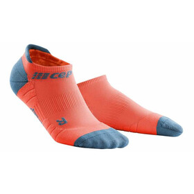 cep No Show Socks 3.0 Homme, coral/grey
